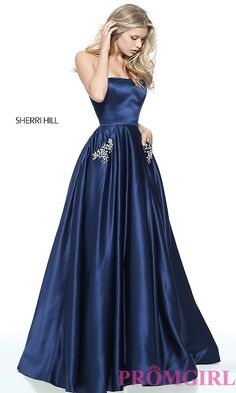 Ball Gown Style Prom Dress with Pockets