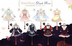 [CLOSED] Pearl and Dark Rose Outfit Adoptable #15 by Black-Quose.deviantart.com on @DeviantArt
