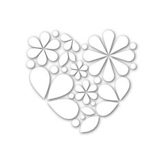 Simon Says Stamp HEART OF FLOWERS Wafer Die SSSD111660 Hey Love