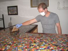 bottlecap countertop