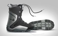 Nike 6.0 snowboard boot concept by James G Lee, via Behance