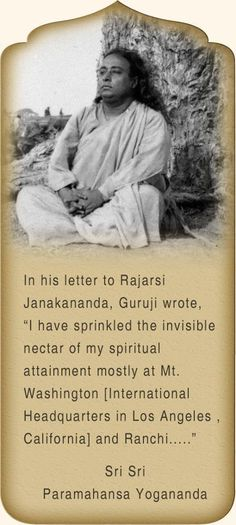 One of the best places to visit in Ranchi, Paramahansa Yogananda started here his worldwide mission of making available the universal Kriya Yoga teachings Yogananda Quotes, Spiritual Figures, Family Leisure, Saint Quotes, Self Realization, Natural Health Tips, Spiritual Growth, Hindi Quotes, Favorite Quotes