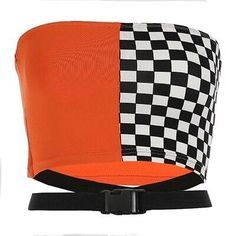 Women Patchwork Tube Top Streetwear Hollow Out Adjustabe Waist Bandeau Top Checkerboard Cropped Strapless Tube Tops as piocture Stylish Work Outfits, Edgy Outfits, Cute Outfits, Fashionable Outfits, Teen Fashion Outfits, Outfits For Teens, Fashion Clothes, Strapless Crop Top, Bandeau Top