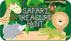 Safari Animal Treasure Hunt - Printable Kids Party Game!