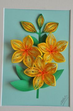 nhipaperquilling - Beautiful quilled flowers