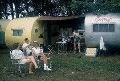 Fittings trailer park, Saybrook, Ohio, 1960