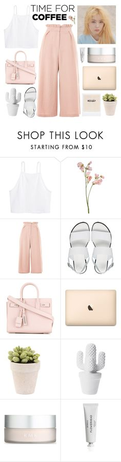 """""""♚ wendy."""" by milkcaendy ❤ liked on Polyvore featuring H&M, Topshop, ASOS, Yves Saint Laurent, RMK, Byredo, outfit, CoffeeDate and juliasimple"""