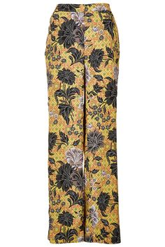 Tailored wide leg trousers in a safari floral print