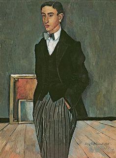 Felix Nussbaum (German, 1904-1944) Portrait of the Painter Karl Hutloff, 1927. Oil on canvas, 97 x 72 cm. Smart Museum of Art, The University of Chicago.