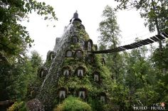 The Magic Mountain Lodge (Montaña Mágica Lodge) in Chile looks like it might have come straight out of J. R. R. Tolkien's imagination! Located in the Huilo Huilo Biological Reserve within the Patagonian Forest, the Magic Mountain Lodge looks like a high-rise of hobbit holes, or perhaps an Elven forest retreat. [click to read more]