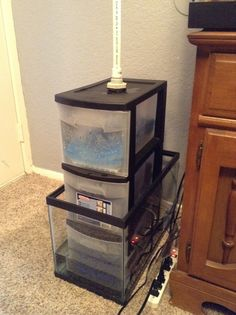 Freshwater sump design pretty fishies and aquarium stuff for Fish tank filter not working