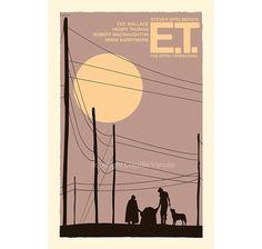 Film Poster retro print E.T die ExtraTerrestrial von ClaudiaVarosio, £12.00