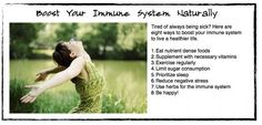 how to boost your immunity system