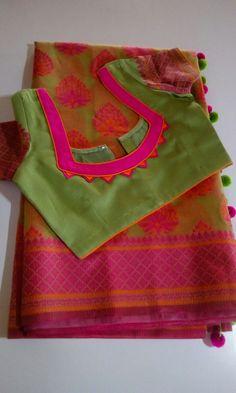Com Best 12 Saree blouse – SkillOfKing. Black Blouse Designs, Cotton Saree Blouse Designs, Patch Work Blouse Designs, Simple Blouse Designs, Stylish Blouse Design, Dress Neck Designs, Pattern Blouses For Sarees, Sari Design, Designer Blouse Patterns