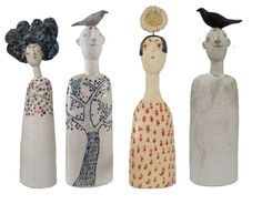 quirky pottery people
