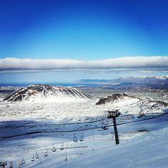 Bláfjöll - Blue Mountains.  Reykjavík´s ski resort ...learned how to ski here...on ice!