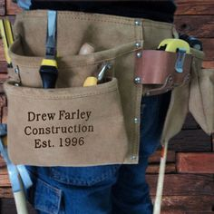 Personalized Engraved Suede Complete Tool Belt