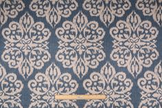 Lacefield Spicer Printed Cotton Blend Drapery Fabric in Lapis $11.95 per yard
