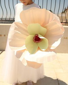 Over-sized paper flower for the flower girl