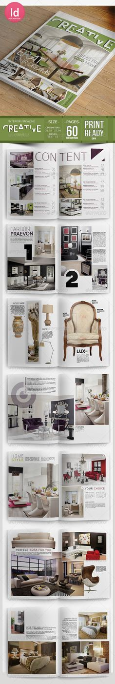 Creative Interior Magazine Template  #minimalistic #modern #products • Click here to download ! http://graphicriver.net/item/creative-interior-magazine-template/7329695?s_rank=297&ref=pxcr