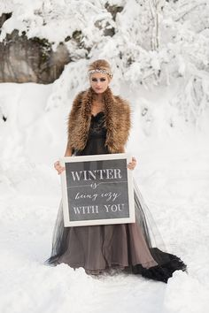 Winter Wedding Inspiration by Blue Rose Photography, Styled by Simply by Tamara Nicole, Hair and Makeup by Yessie Makeup Artistry, Florarama Modern Design (flowers).Hannah Loop= SMG model, etc. Print work by Just Milled