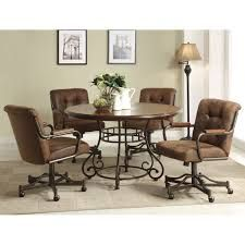 Finding kitchen table sets with caster chairs shouldn t be a problem  anymore  Thanksdouglas dinette sets with casters   Swivel Caster Dining Chairs  . Dining Room Set With Caster Chairs. Home Design Ideas