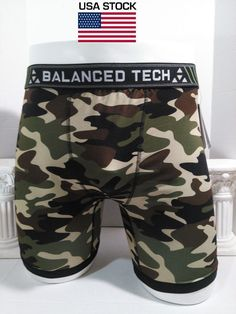 913ffadc0c Balanced Tech Men s Underwear Performance Comfort Army Athletic Boxers  Briefs L  fashion  clothing