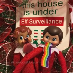 Elf on the Shelf Free Printable Snapchat Filters