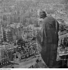 The aftermath from the firebombing of Dresden.   With Jiri Weil in Mendelssohn Is on the Roof (not sure if the unnamed city in the book is actually Dresden)