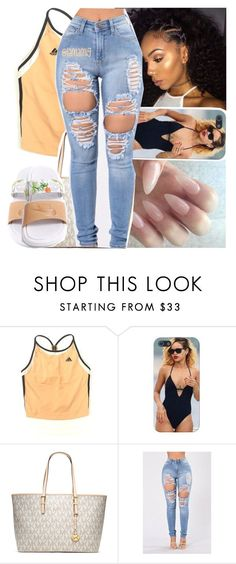 """in your darkest hours, i'll help light your way"" by lamamig ❤ liked on Polyvore featuring adidas, MICHAEL Michael Kors and NIKE"