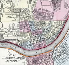 Cincinnati, 1860, zoomable map