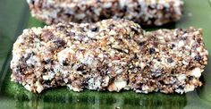 """These bars are the perfect on-the-go snack."" 2 Ingredient Gluten-free, Dairy-free Energy Bars -- good notes about soaking and drying nuts before making bars Healthy Breakfast Options, Breakfast Snacks, Vegan Snacks, Healthy Treats, Raw Food Recipes, Snack Recipes, Dairy Free, Grain Free, Gluten Free"