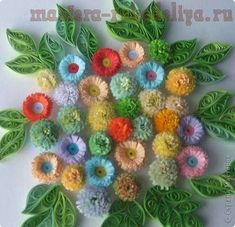 Мастер-класс по квиллингу: Бахромчатые цветы