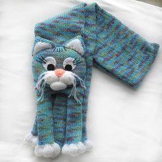 Knitted scarf de chat, les enfants tricotés animaux foulard, écharpe, foulard chat, tricot écharpe