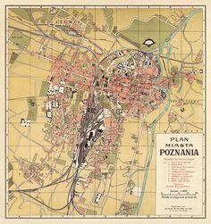 Poznan map, 1924