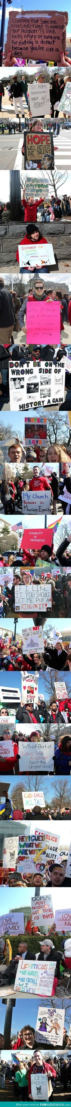 gay marriage has become an issue of such proportions that people best signs against anti gay marriage laws