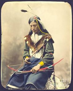 Chief Bone Necklace of the Oglala Lakota — photographed in 1899 by Heyn Photo.