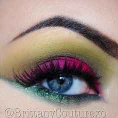 Colorful makeup!  @ brittanycouturexo