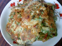 Cooking Pleasure: Fried Egg Omelette With Long Beans
