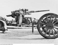 German 88 Flak dual purpose Gun - Africa (Rommel saw the advantage of this gun against tanks) - AWM