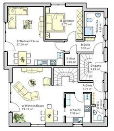 Haus Geno 120 : Mehrfamilienhaus Fertighaus / Energiesparhaus von B&B Haus