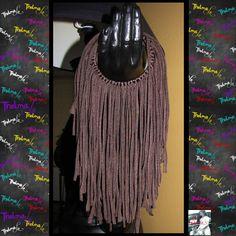 Fringe Hoop EarringsBrown Fringe EarringsCustom by iLoveThelmaLu