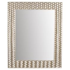 Equally at home in a country cottage or uptown brownstone, this chic wall mirror showcases a rectangular basketweave frame in a stylish silver leaf finish.  ...