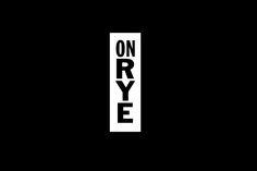 On Rye by Pentagram, United States. #branding #logo