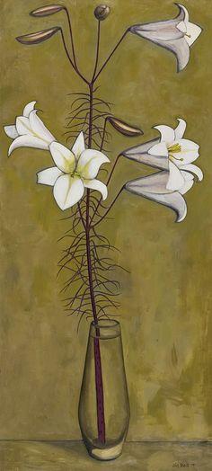 John Brack ~ Christmas Lilies, 1955