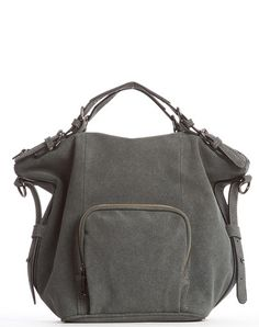Orian Ultrasuede Satchel Bag - Gray – Cri de Coeur