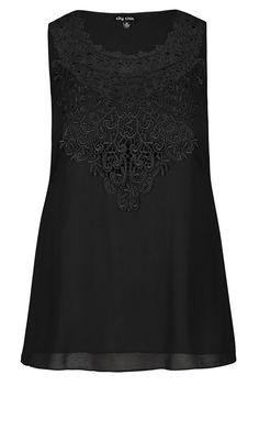 6e5ed7e0dbbf5 City Chic - MINGLE TOP - BLACK - Women s Plus Size Fashion - City Chic Your