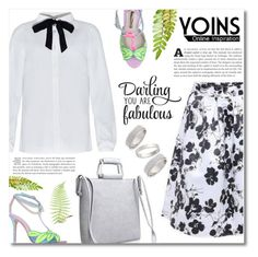 """""""Yoins"""" by dolly-valkyrie ❤ liked on Polyvore featuring Sophia Webster, Topshop, women's clothing, women, female, woman, misses, juniors, yoins and yoinscollection"""