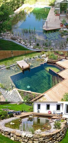 17 natural family swimming pools you'd like to jump into right away Proudly . 17 natural family swimming pools that you want to jump into immediately Pride Natural Swimming Ponds, Natural Pools, Natural Backyard Pools, Natural Baths, Piscine Diy, Kleiner Pool Design, Building A Swimming Pool, Small Swimming Pools, Small Pool Design