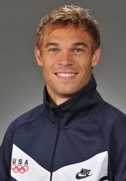 Nick Symmonds, 800m runner, Bishop Kelly graduate.  Knew him when he was a prep athlete, and I was a local sports reporter.  His mother was my English teacher.  She and his father raised a great guy!